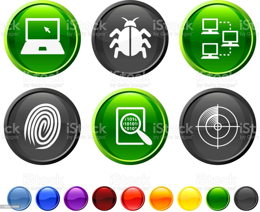 Computer Virus Royalty Free Vector Icon Set Stock