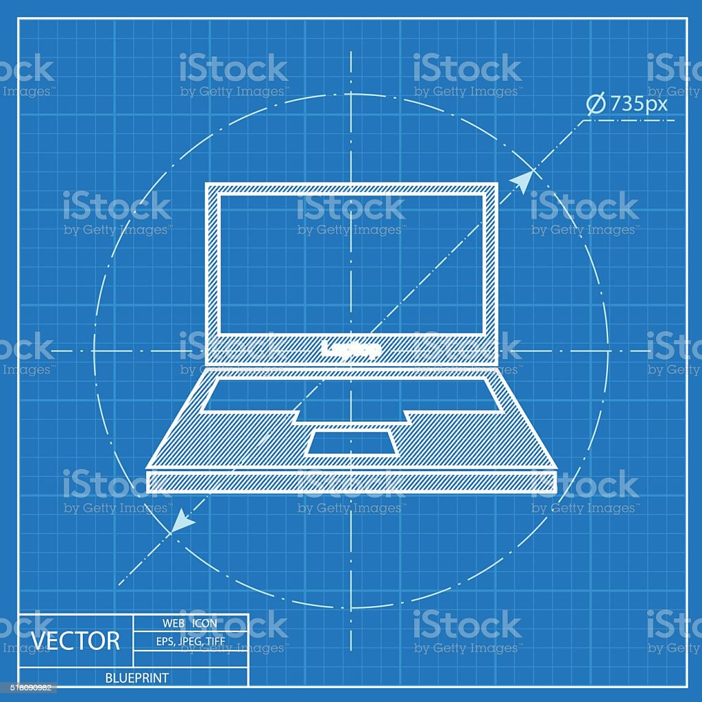 Computer web blueprint icon vector design stock vector art 518090982 computer web blueprint icon vector design royalty free stock vector art malvernweather Images