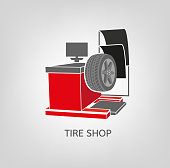 Computer wheel balancer beautiful vector illustration useful for icon and icon