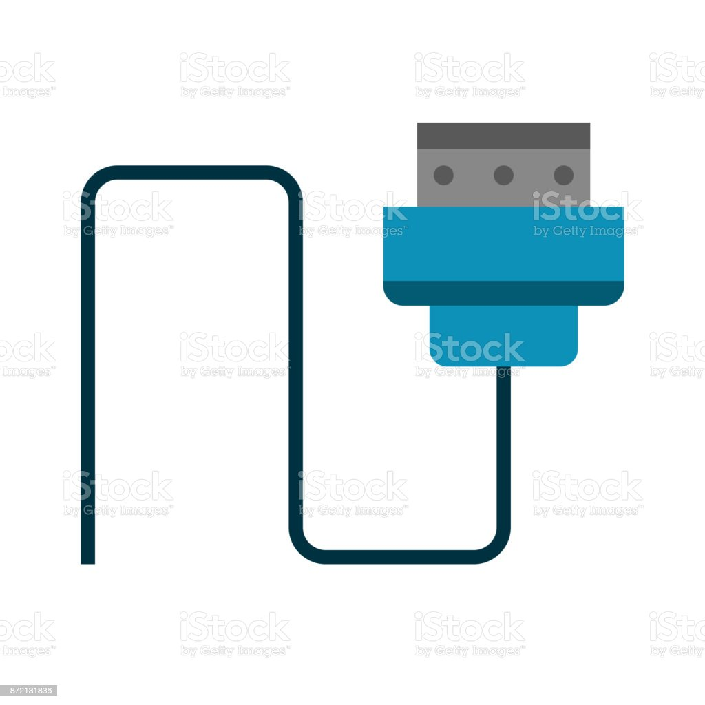 Computer Wire Isolated Stock Vector Art More Images Of Abstract Diagram Royalty Free Amp