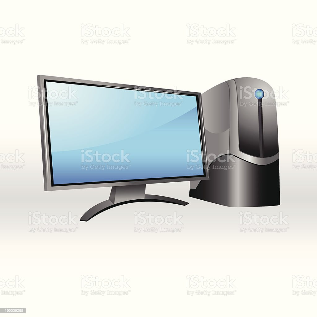 Computer Workstation royalty-free stock vector art