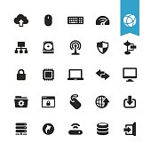 Computers and Network vector icons