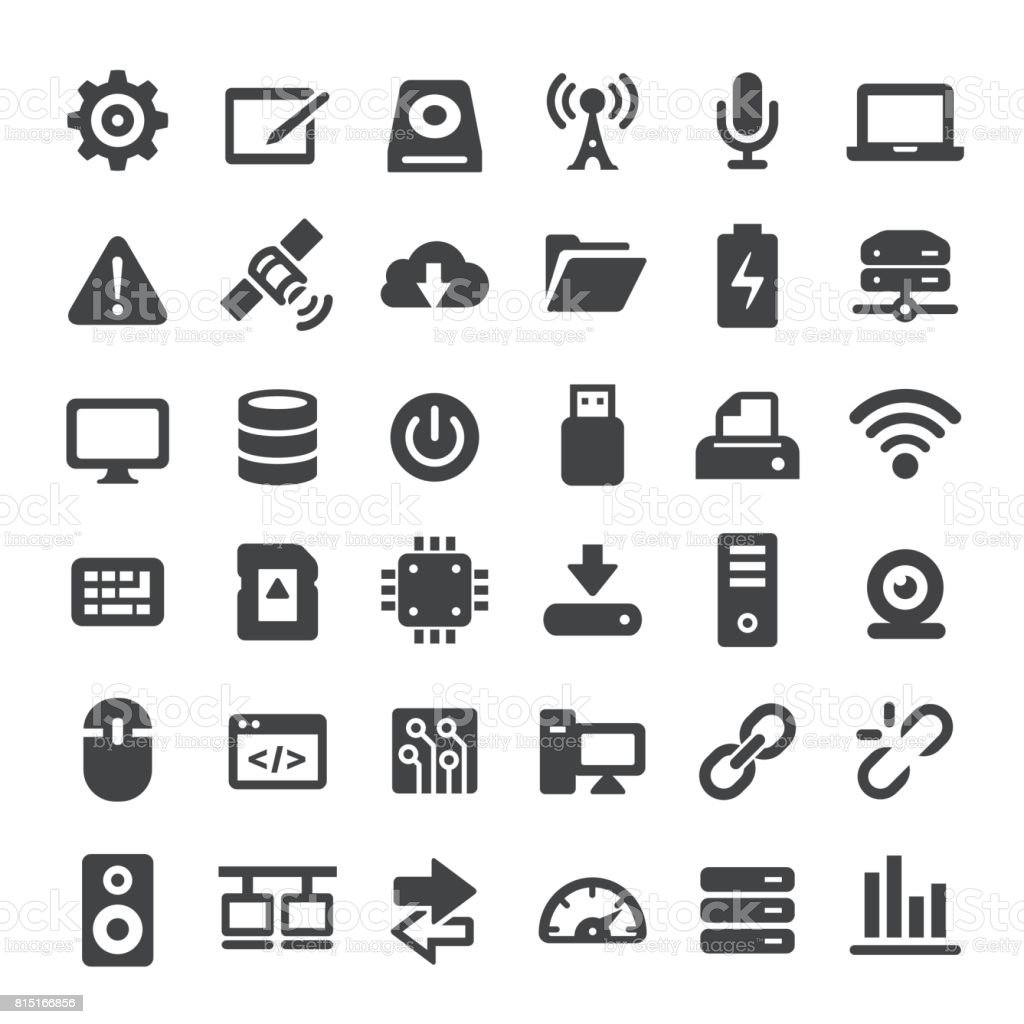 Computers and Technology Icons - Big Series