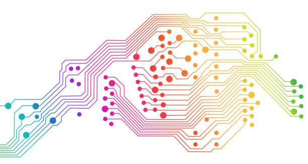EDV Nummer elektronische Regenbogen – Vektorgrafik