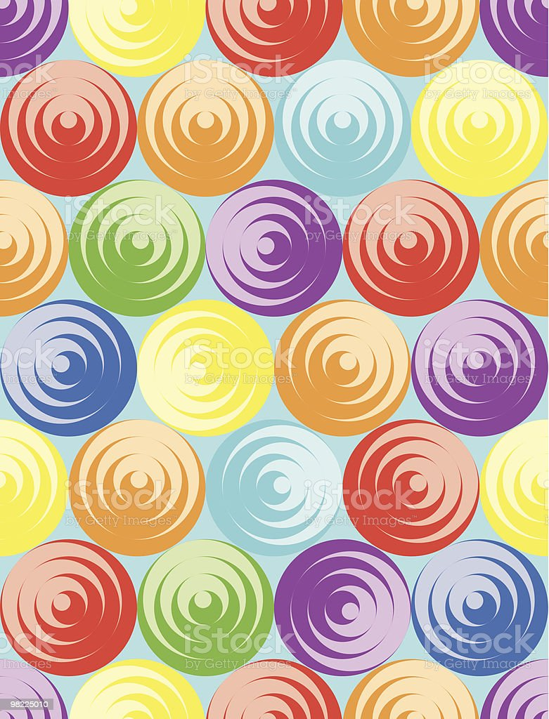 Concentric Candy royalty-free stock vector art