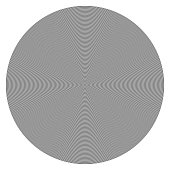 Concentric circle design element.