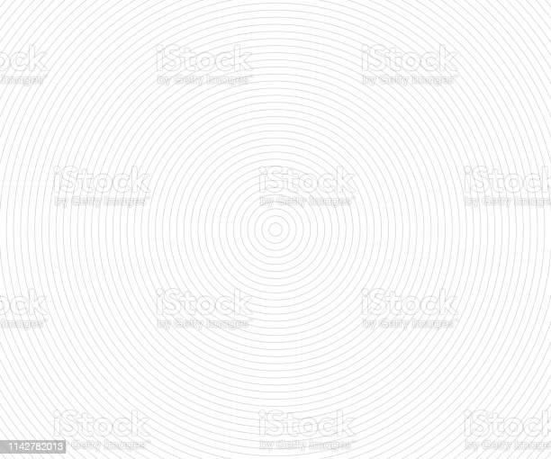 Concentric Circle Elements Backgrounds Abstract Circle Pattern Black And White Graphics - Immagini vettoriali stock e altre immagini di Ambiente