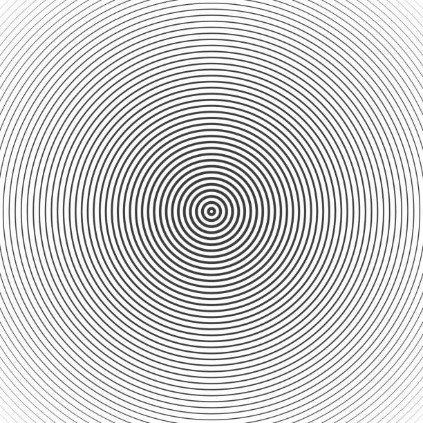 illustrazioni stock, clip art, cartoni animati e icone di tendenza di concentric circle elements. - motivo concentrico