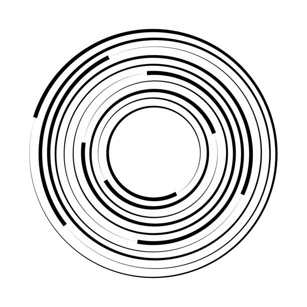 Concentric circle geometric element. Vector illustration Concentric circle geometric element. Vector illustration rippled stock illustrations