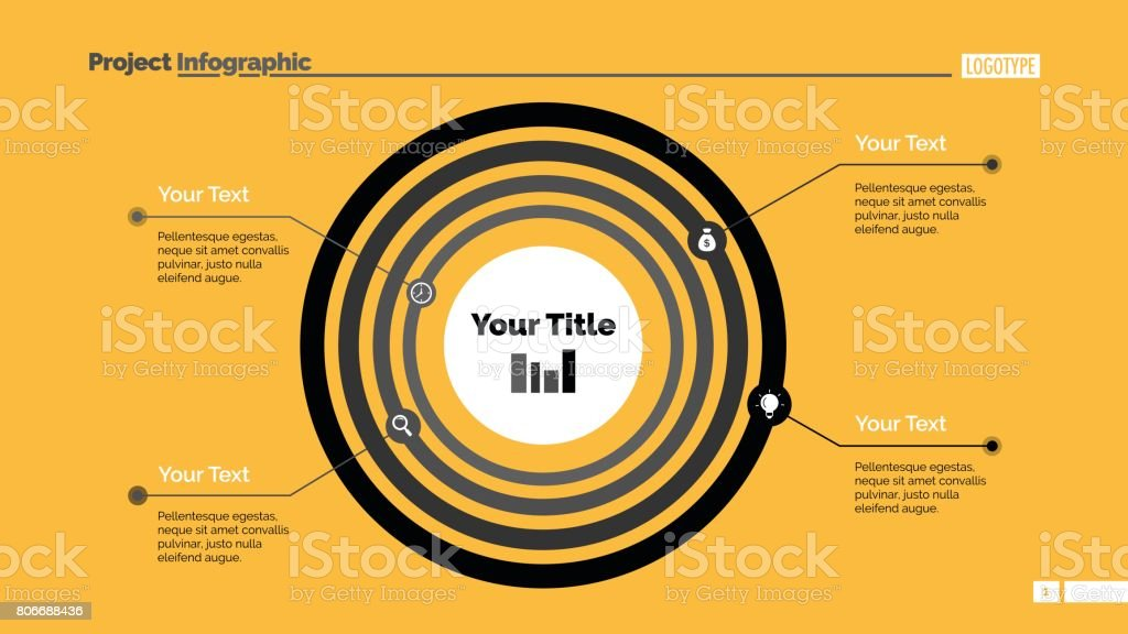 Concentric Circles Diagram Slide Template Stock Vector Art 806688436