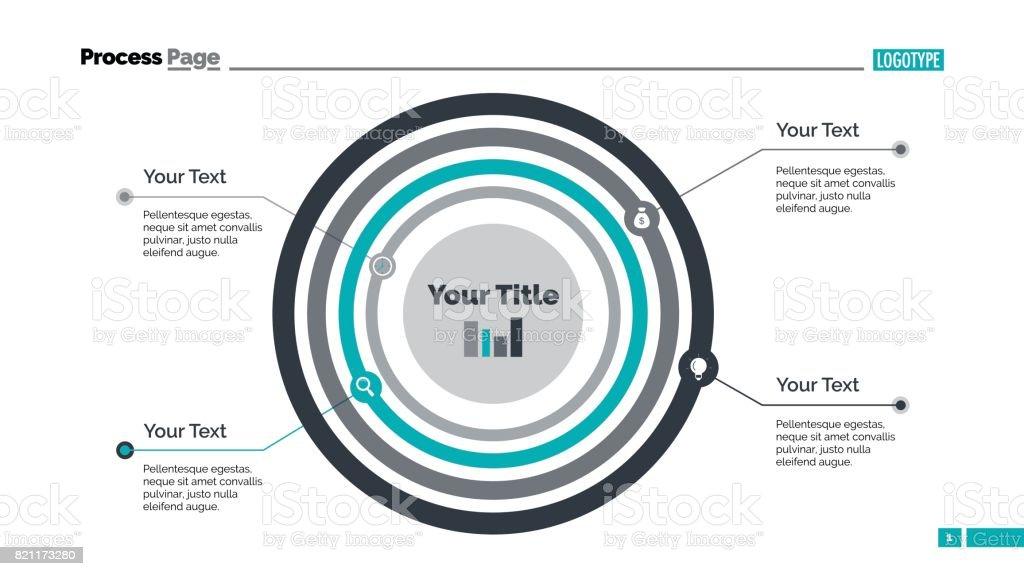 Concentric Circles Diagram Slide Template Stock Vector Art More