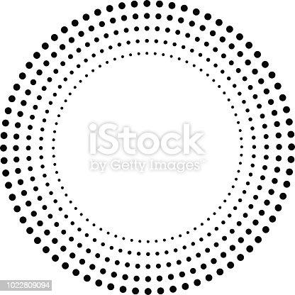 Concentric Circles . Dots in Circular Form . Vector.