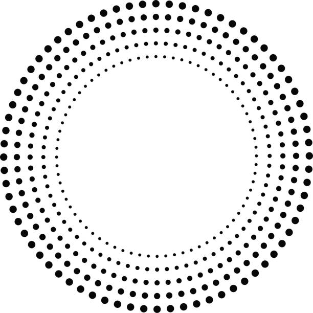 Concentric Circles . Dots in Circular Form . Vector. Concentric Circles . Dots in Circular Form . Vector. spotted stock illustrations