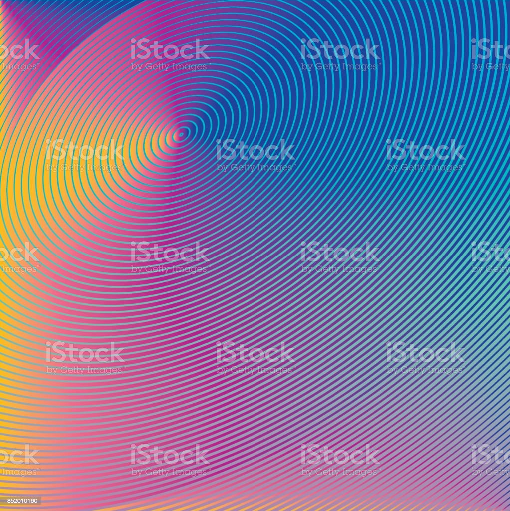 Concentric circles futuristic abstract background vector art illustration