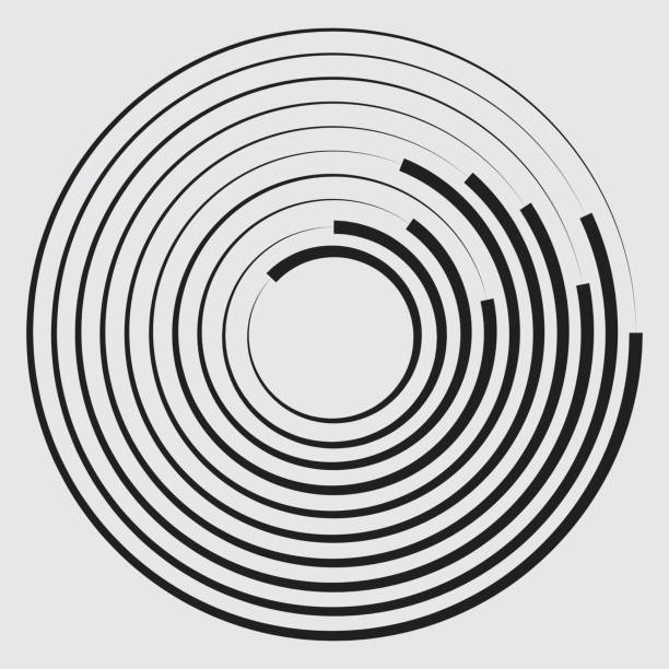Concentric circles geometric element. Concentric circles geometric element shock stock illustrations