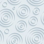 Concentric circles neutral seamless wallpaper pattern.