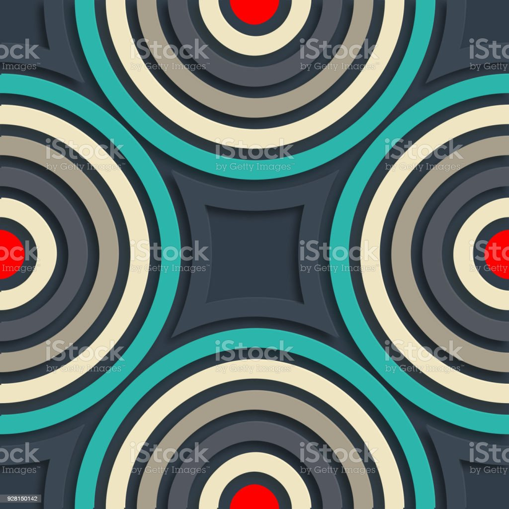 Concentric circles pattern background vector art illustration