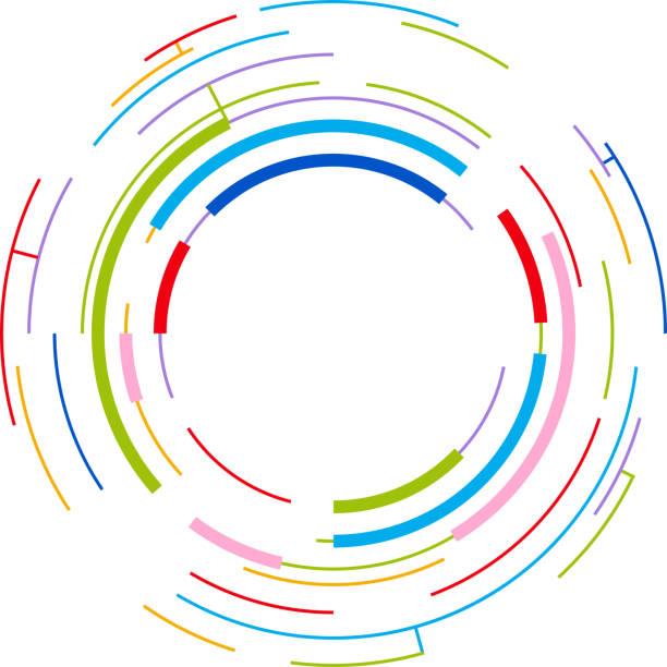 Konzentrische Kreise – Vektorgrafik
