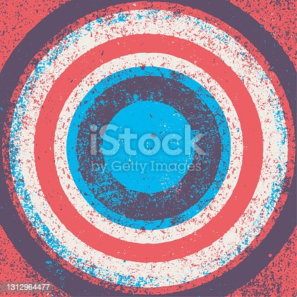 istock Concentric grunge background - v1 1312964477