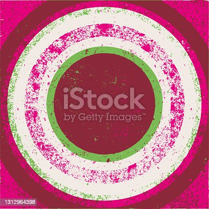 istock Concentric grunge background - v12 1312964398