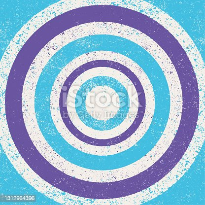 istock Concentric grunge background - v3 1312964396