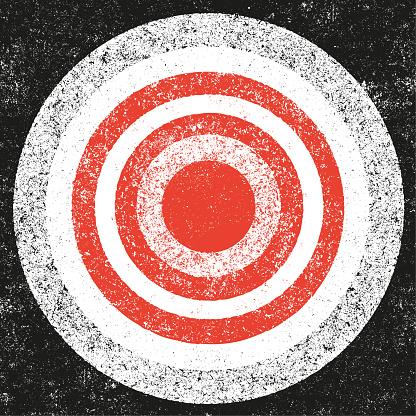 Concentric grunge background - v4