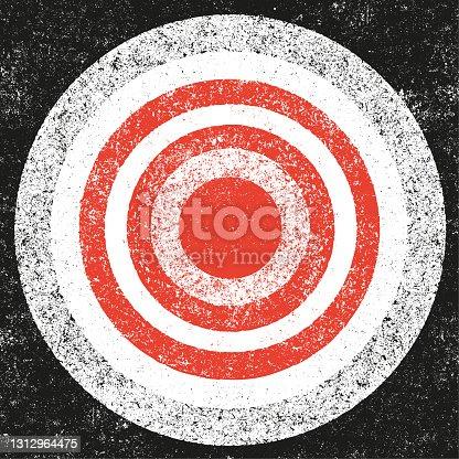 istock Concentric grunge background - v4 1312964475