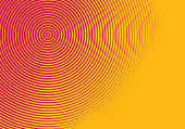 Concentric Halftone pattern abstract background
