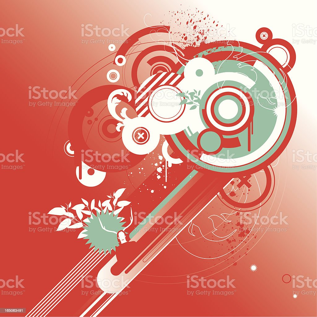 concentric red royalty-free stock vector art
