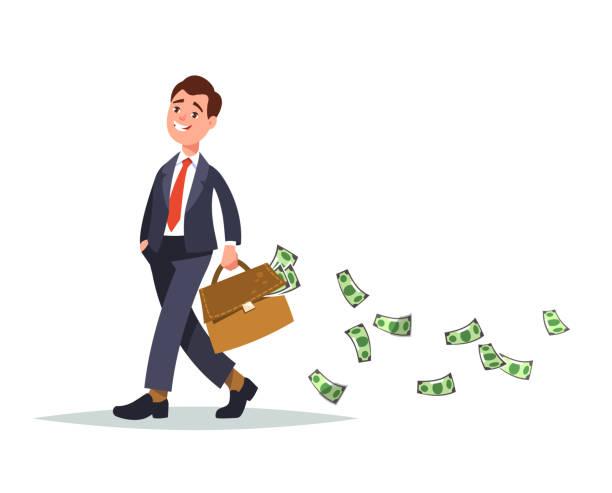 Konzept-Fülle von Geld – Vektorgrafik