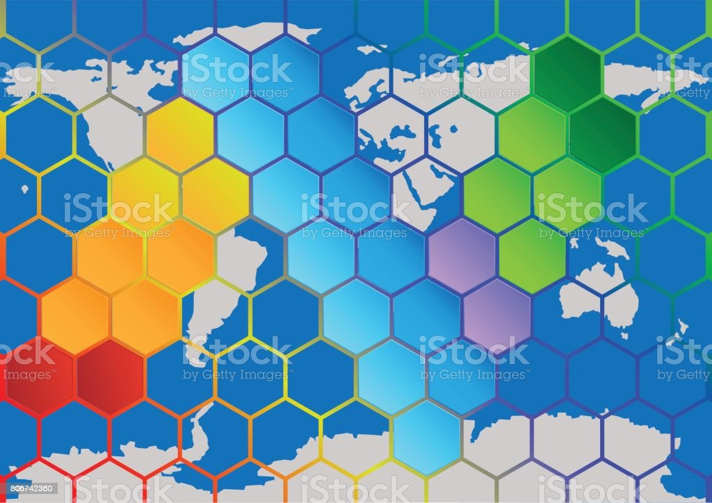 Concept and idea hexagonal shape infographic with world map concept and idea hexagonal shape infographic with world map background vector eps10 royalty free gumiabroncs Gallery