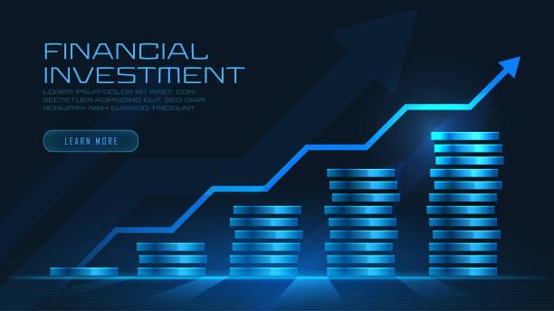 Konzeptkunst des finanziellen Wachstums – Vektorgrafik