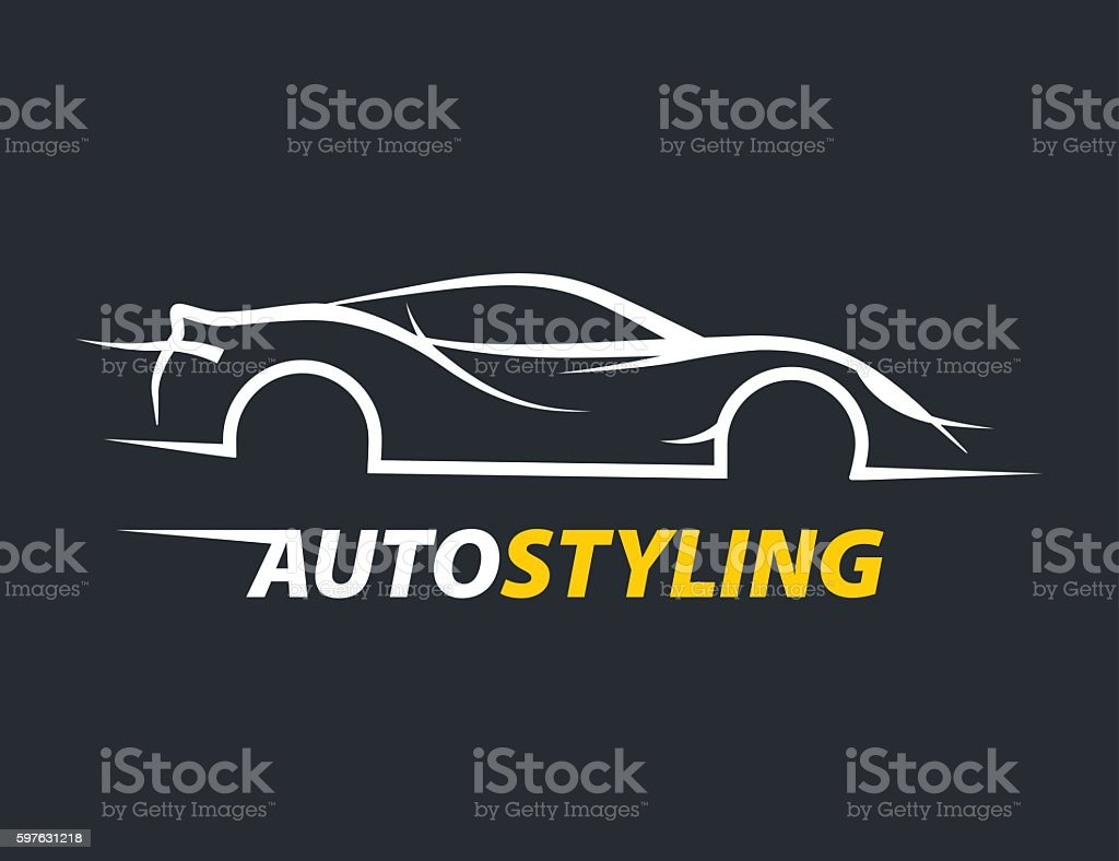 Concept Auto Styling Car Logo With Supercar Sports Vehicle Silhouette Stock Vector Art & More ...