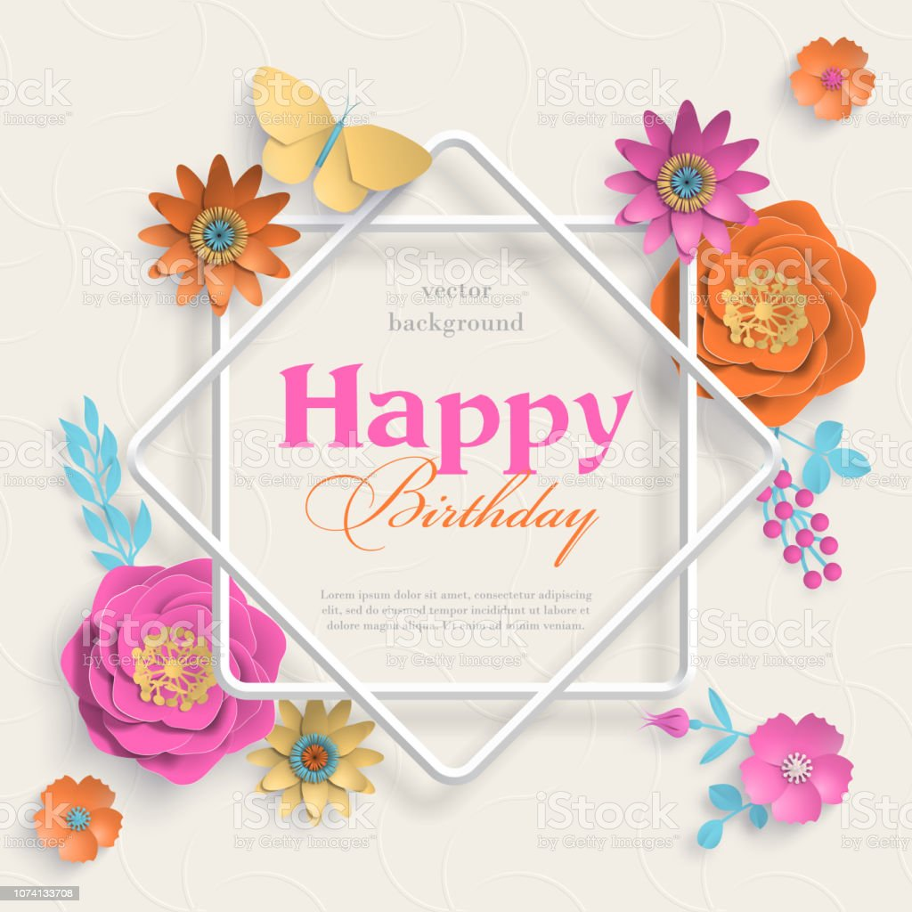 Kavram afiş kağıt sanat çiçek, sekiz sivri uçlu yıldız çerçeve ve İslam geometrik desenleri ile. Kağıt kesme 3d çiçek ışık arka plan üzerinde. Vektör çizim. vektör sanat illüstrasyonu