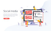 Concept Blogging or education, creative writing, content management for web page, banner, presentation, social media, documents and posters. Vector illustration news, copywriting, seminars tutorial