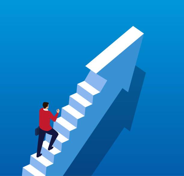 concept business growth - stopnie do sukcesu stock illustrations