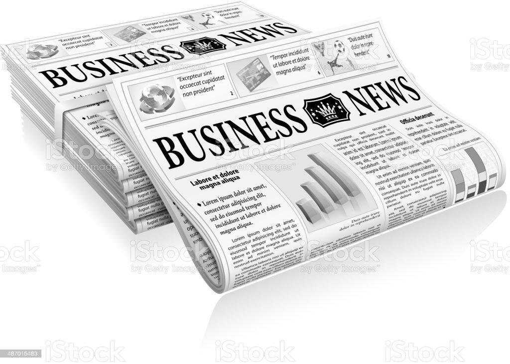 Concept - Business News vector art illustration