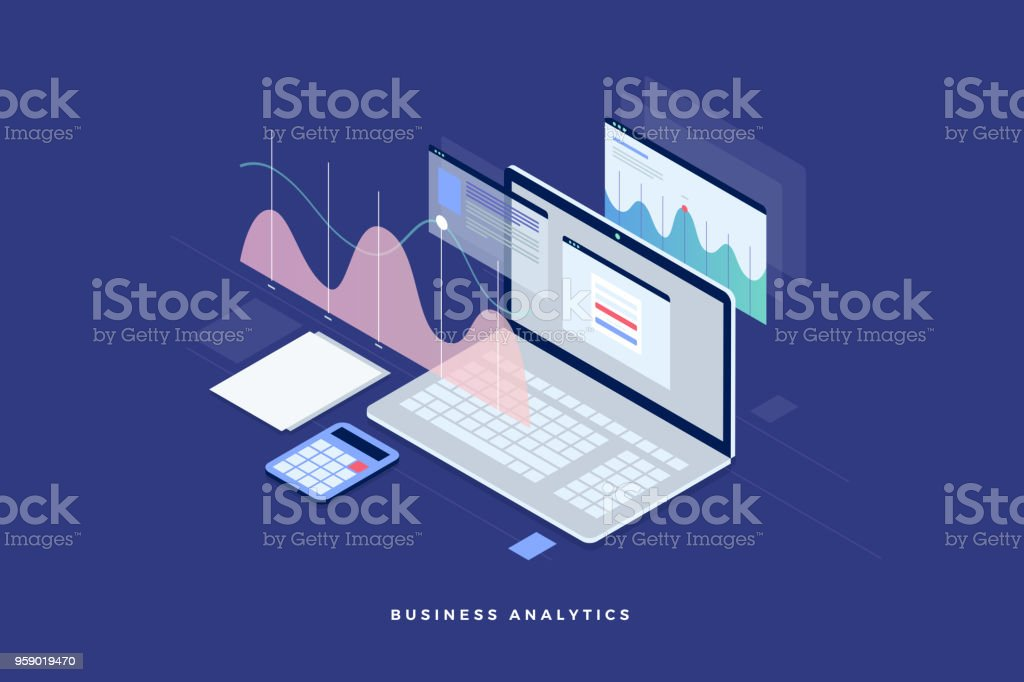 Concept business strategy. Analysis data and Investment. Business success. royalty-free concept business strategy analysis data and investment business success stock illustration - download image now
