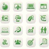 SEO Concept buttons,Green version,vector