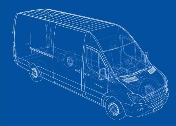 Concept car. Vector vector art illustration