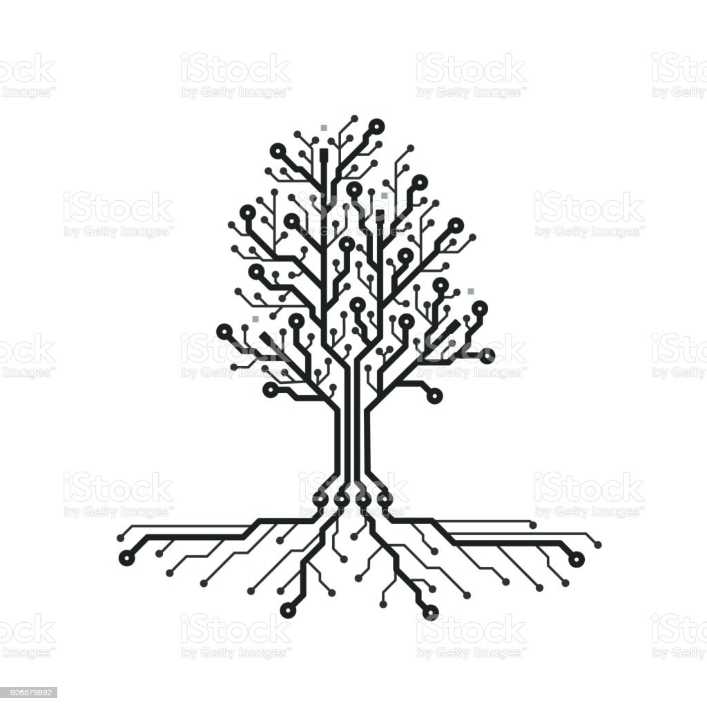 royalty free tree root system clip art  vector images