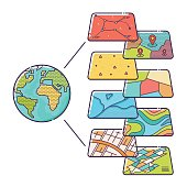 GIS Concept Data Layers for Infographic
