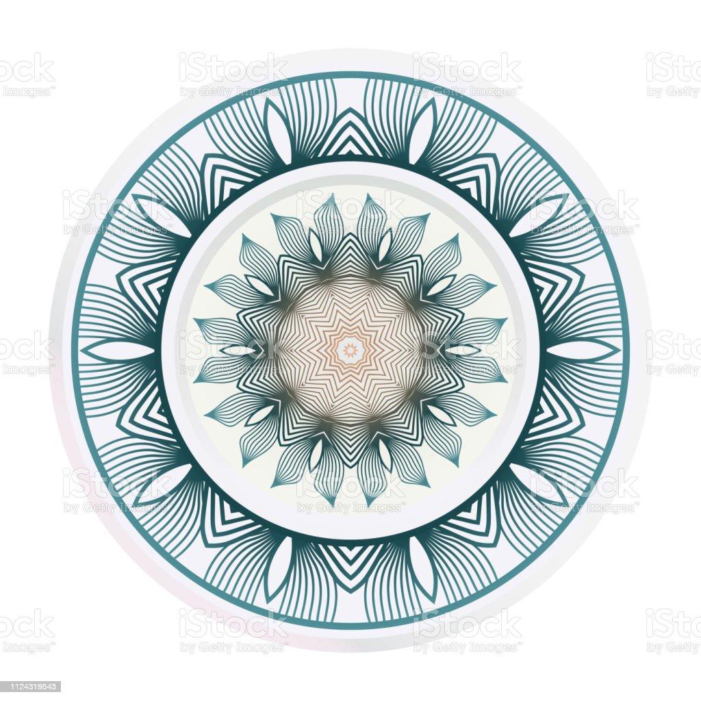 Concept Decorative Plates With Mandala Ornament Patterns