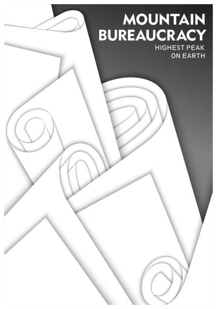 bildbanksillustrationer, clip art samt tecknat material och ikoner med koncept design om byråkrati - balpress