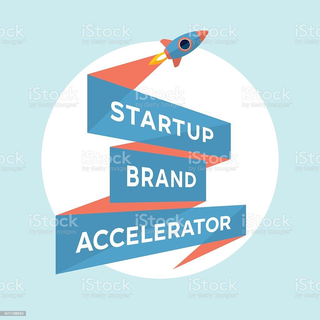 Concept design for start up project with inscription Startup Brand vector art illustration