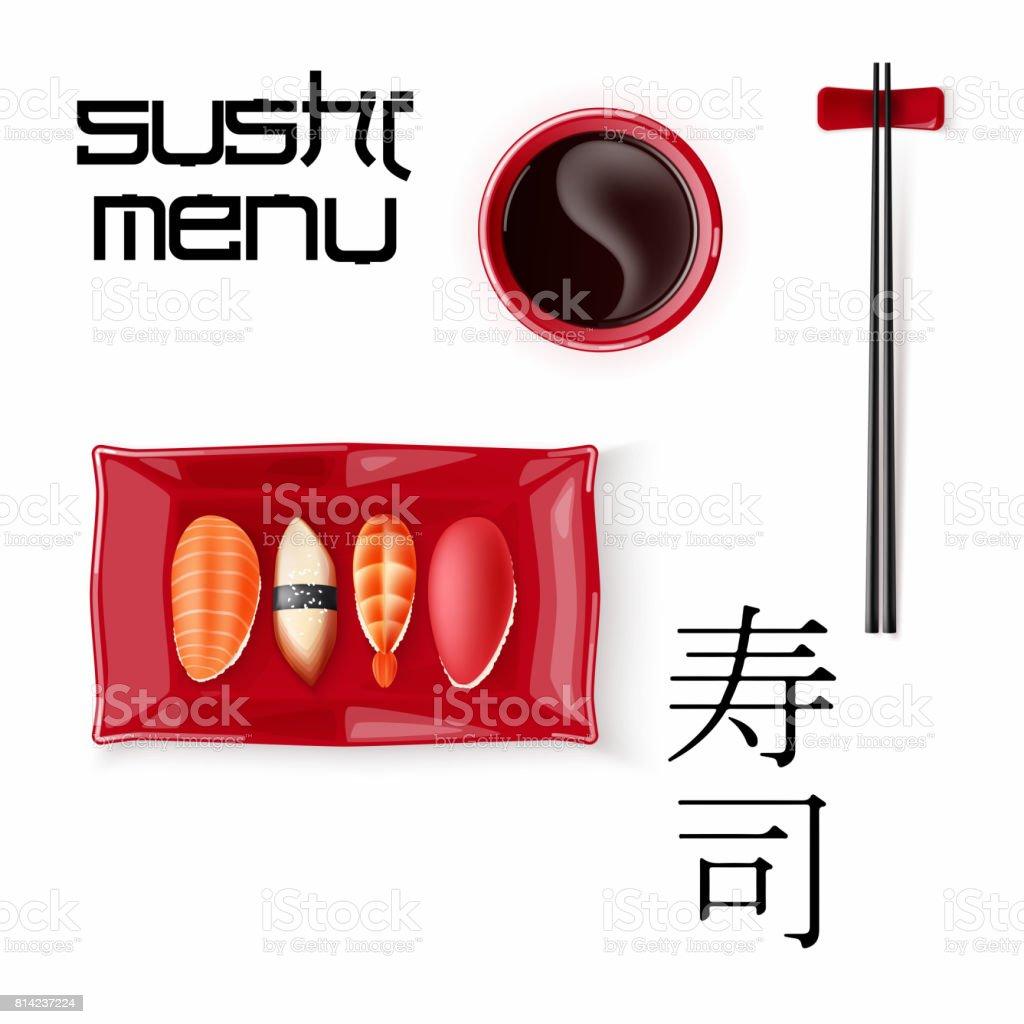 Concept design of the invitation sushi restaurant vector concept design of the invitation sushi restaurant vector illustration royalty free stock vector art stopboris Images