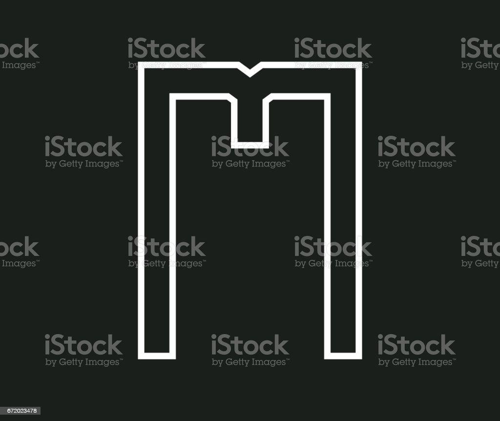 M Concept Design vector art illustration