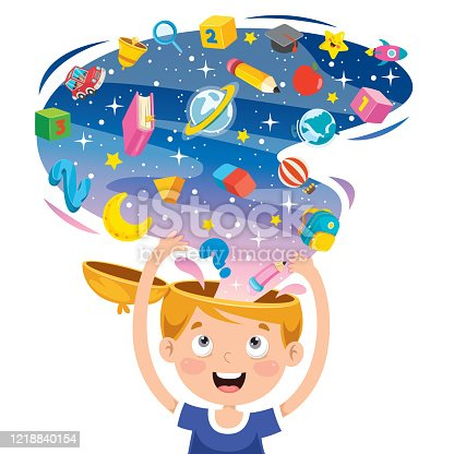 istock Concept Drawing For Creative Thinking 1218840154
