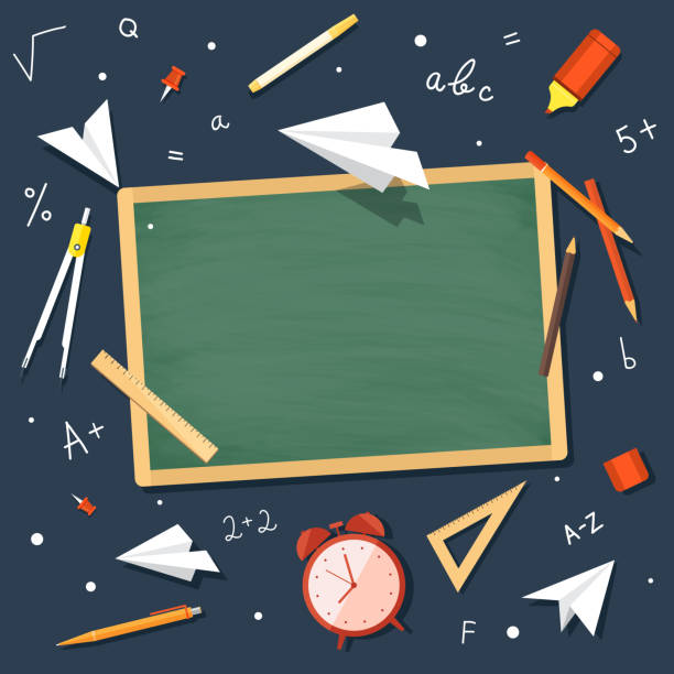 concept education. back to school. - back to school stock illustrations, clip art, cartoons, & icons
