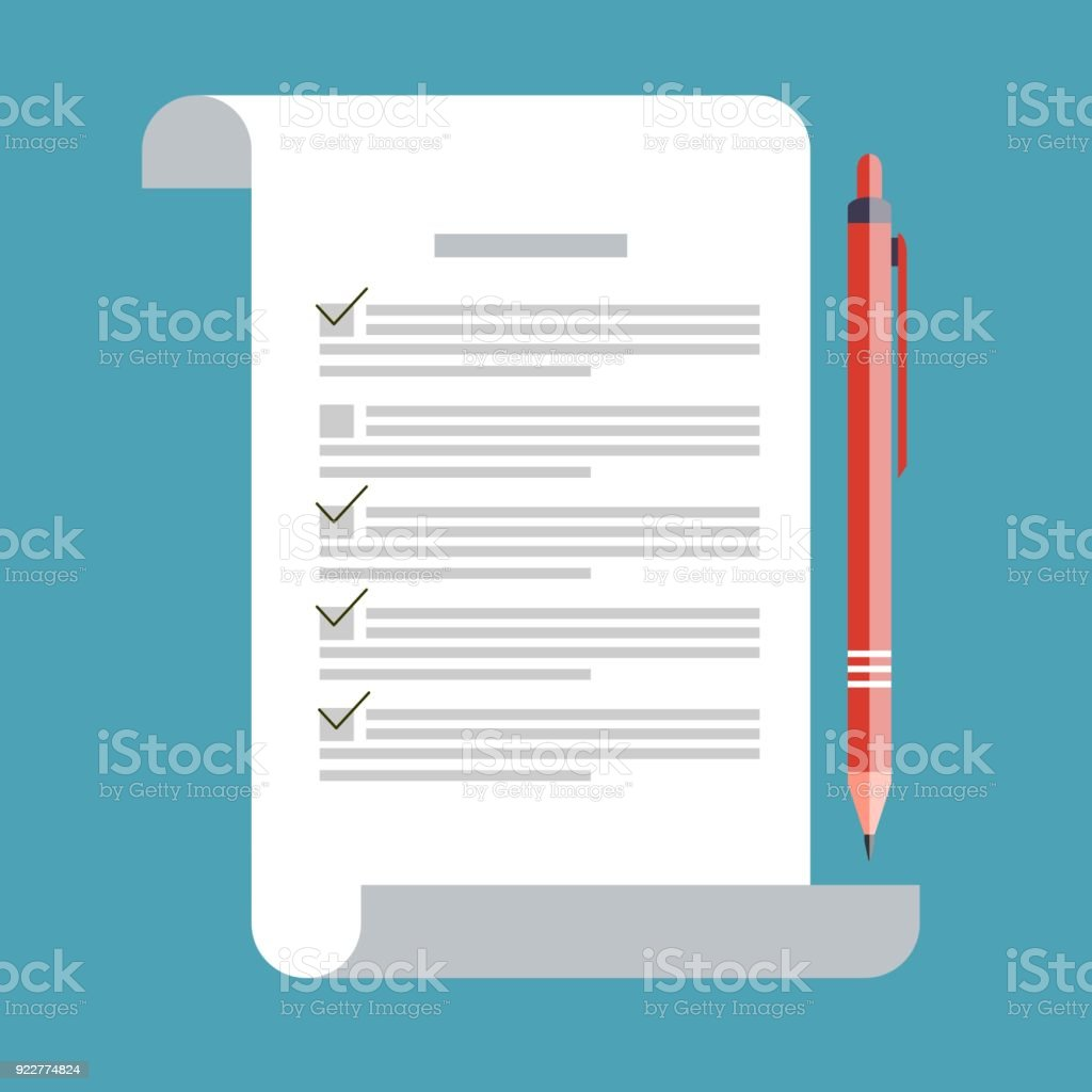 Concept Exam Survey Testing School Test Icon On Flat Style School